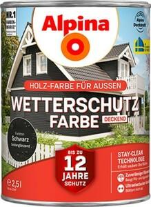 Alpina Wetterschutzfarbe ,  2,5 l, schwarz