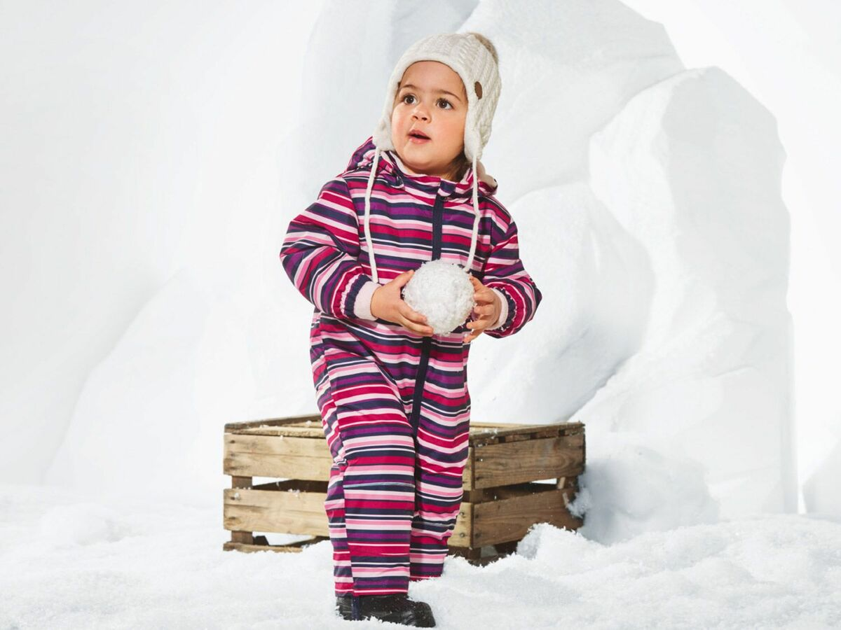 Bild 2 von LUPILU® Baby Kleinkinder Mädchen Schneeoverall