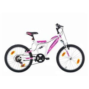 Actimover - 16 Zoll Kinderfahrrad Flamingo, weiß/lila