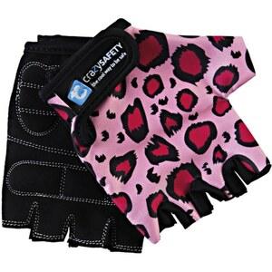 Crazy Safety - Fahrradhandschuhe Pink Leopard, Gr. S
