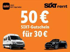 50€ Sixt-Gutschein für 30€