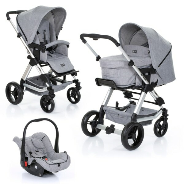 ABC Design - Travelsystem Turbo 4 All in One, Woven Granite