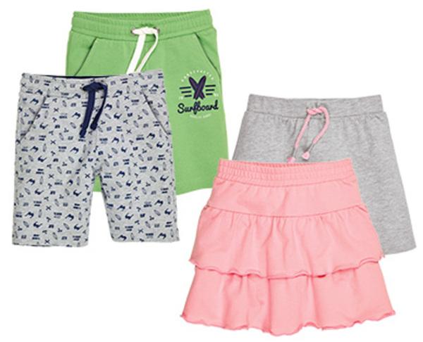 alive®  2 Kinder-/Kleinkinder-Shorts oder -Röcke