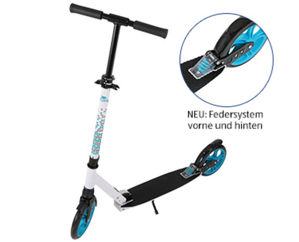 crane®  Alu-Scooter mit Federung