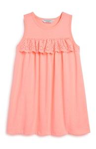 Korallfarbenes Kleid (kleine Mädchen)
