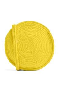 Runde Umhängetasche in Gelb