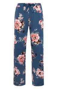 Blaue Pyjamahose mit Mohnblumen