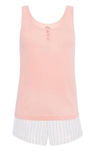 Rosafarbenes Pyjamaset