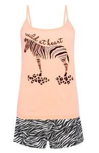 Pyjamaset mit Zebramotiv