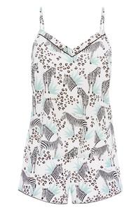 Pyjama-Trägertop mit Zebramuster