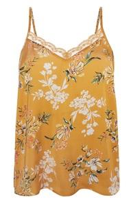 Gelbes Pyjama-Trägertop mit Blumenmuster
