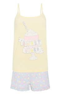 Pyjamaset mit Eiscreme-Print