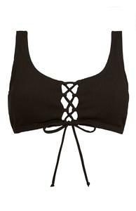 Schwarzes Bikinitop