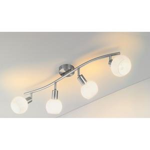 casaNOVA Retrofit Deckenlampe 4 Strahler LINA Nickelfarbig
