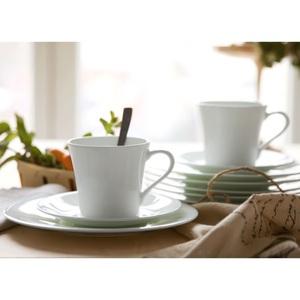HUTSCHENREUTHER Kaffeeservice NORA 18 teilig Bone China Porzellan Weiß