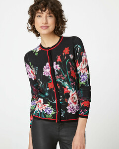 Cardigan mit Blumendruck