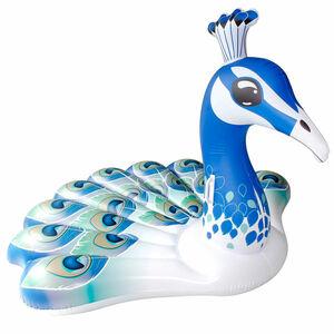 Luftmatratze Pfau, D:163cm, blau