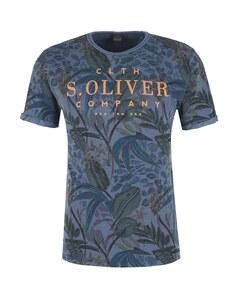 s. Oliver - T-Shirt mit modernem Print