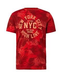 TOM TAILOR - T-Shirt mit leichtem Schrift-Print