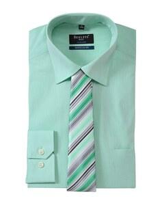 Bexleys man - Hemd/Krawatten-Set, langarm, uni