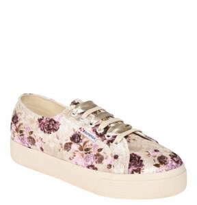 SUPERGA             Sneaker, florales Design, doppelte Schnürung