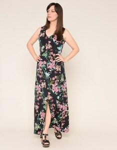 Viventy - langes Jerseykleid mit Blumendruck