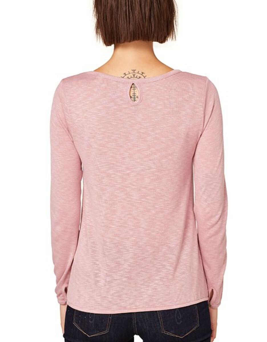 Bild 4 von Esprit - Langarmshirt aus meliertem Slub-Jersey