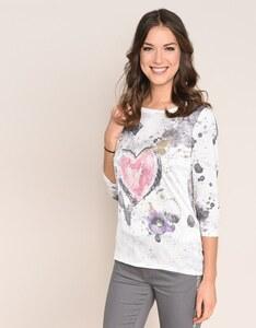 Viventy - Romantisches Shirt mit Schmuckstein-Dekoration
