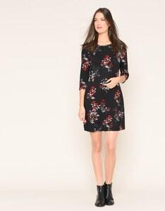 My Own - Feinstrick-Kleid mit floralem Druck