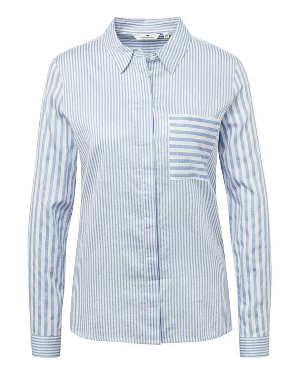 TOM TAILOR - Bluse im coolen Streifendesign