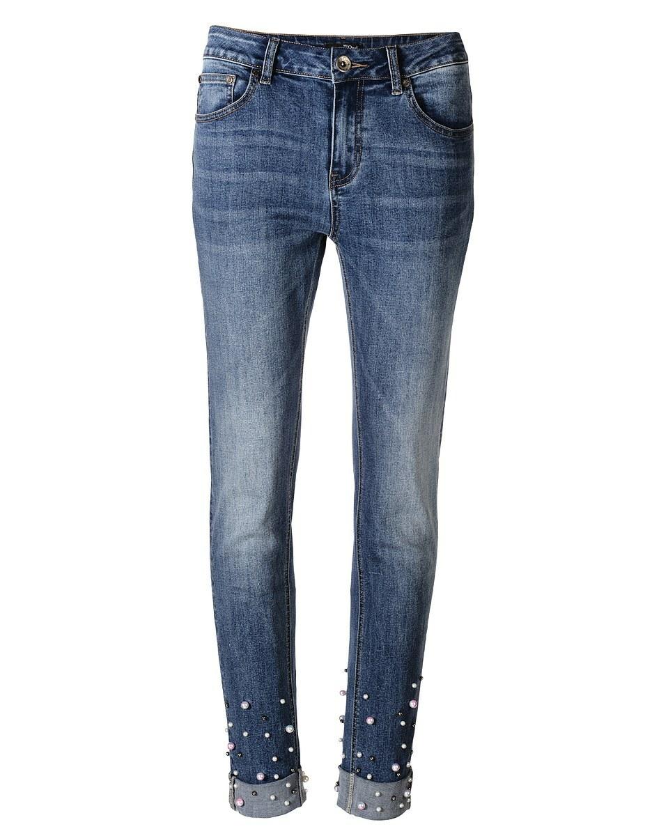 Bild 1 von My Own - Jeans mit Perlenbesatz