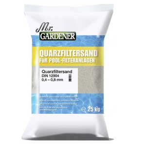 Mr. Gardener Quarzfiltersand 25 kg 0,4-0,8 mm Pool Quarzsand