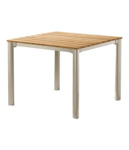 Sieger Exclusiv-Tisch mit FSC-Teakholzplatte, 95 x 95 cm
