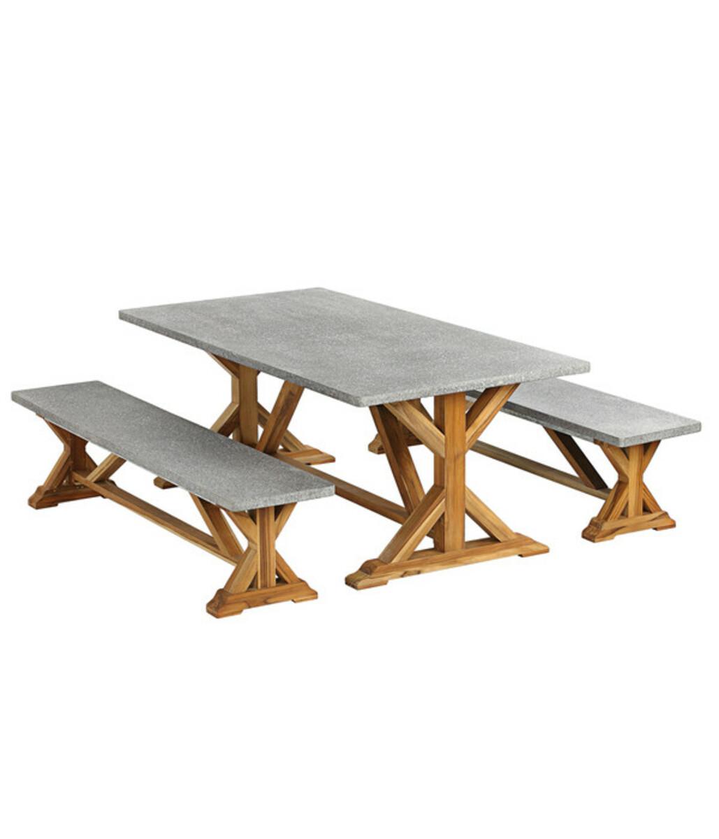 Bild 2 von Fiberzement-Tisch Rocky, 200 x 100 x 74,5 cm