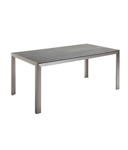 Best Tisch Seattle, silber / anthrazit, 180 x 88 x 75 cm