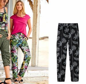 Laura Torelli COLLECTION Damen-Stoffhose mit elastischem Bund