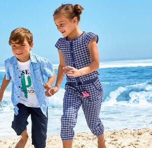 Kids Mädchen-Jumpsuit mit angesagtem Karomuster