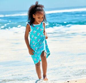Kids Mädchen-Kleid mit süßen Flamingos