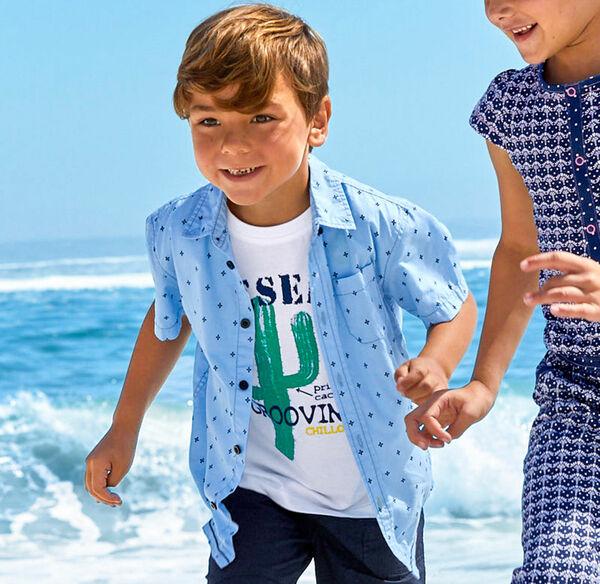 Kids Jungen-Hemd aus reiner Baumwolle