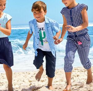Kids Jungen-Bermudas aus reiner Baumwolle