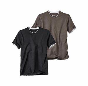 Reward classic Herren-T-Shirt mit Kontrast-Saum
