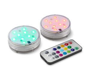 2 LED-Unterwasserlichter mit Farbwechsel