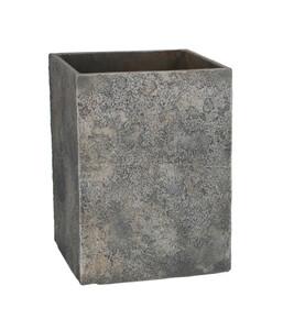 Dehner Leichtbeton-Topf, eckig, grau