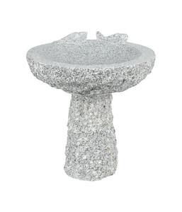 Granit-Vogeltränke mit Sockel, Ø 35 x 40 cm