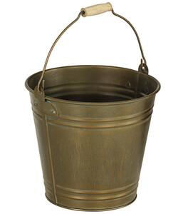 Dehner Metall-Eimer mit Henkel, bronze
