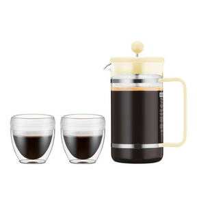 "bodum        Bistro-Set Kaffeebereiter ""Pavina"", 1,0 l + 2 Becher"