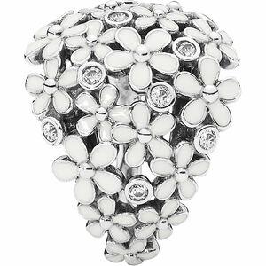 """Pandora Damen Ring """"190936EN12"""" Liebliche Gänseblümchen, 925er Silber mit Zirkonia und Emaille"""