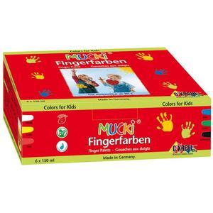 MUCKI Fingermalfarbe 6er
