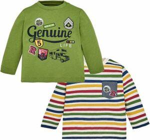 Baby Langarmshirt Doppelpack Gr. 86 Jungen Kleinkinder