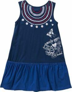 Kinder Jerseykleid mit Pailletten Gr. 98/104 Mädchen Kleinkinder